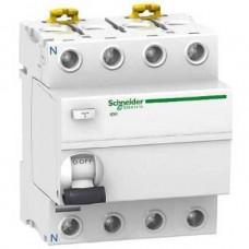 Устройство защитного отключения (УЗО) Schneider Electric iID K, 63А, 30мА, 4 полюса (A9R70463)