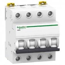 Автоматический выключатель Schneider Electric iK60N, 63А, кривая C, 4 полюса