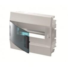 Шкаф распределительный IP41 Mistral встроенный, прозрачные двери 12M с винтовым N/PE клеммником, 12 подключений (1SLM004101A1203)