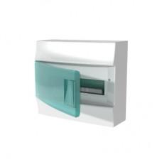 Шкаф распределительный IP41 Mistral встроенный, прозрачные двери 12M с винтовым N/PE клеммником, 12 подключений (1SPE007717F0421)