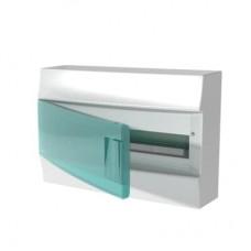 Шкаф распределительный IP41 Mistral встроенный, прозрачные двери 18M с винтовым N/PE клеммником, 22 подключений (1SPE007717F0821)
