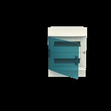 Шкаф распределительный IP41 Mistral встроенный, прозрачные двери 24M с винтовым N/PE клеммником, (1SLM004100A1205)