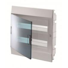 Шкаф распределительный IP41 Mistral встроенный, прозрачные двери 24M с винтовым N/PE клеммником, 32 подключений (1SLM004101A1205)