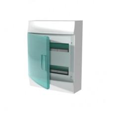 Шкаф распределительный IP41 Mistral встроенный, прозрачные двери 24M с винтовым N/PE клеммником, 32 подключения (1SPE007717F0521)