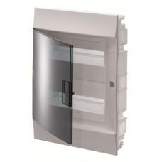 Шкаф распределительный IP41 Mistral встроенный, прозрачные двери 36M с винтовым N/PE клеммником, 42 подключений (1SLM004101A1206)