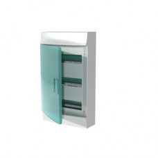 Шкаф распределительный IP41 Mistral встроенный, прозрачные двери 36M с винтовым N/PE клеммником, 44 подключений 3ряда (1SPE007717F0621)