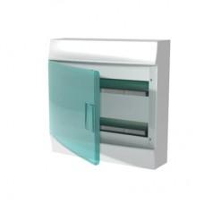Шкаф распределительный IP41 Mistral встроенный, прозрачные двери 36M с винтовым N/PE клеммником, 44 подключений  2ряда (1SPE007717F0921)