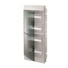 Шкаф распределительный IP41 Mistral встроенный, прозрачные двери 48M с винтовым N/PE клеммником, 64 подключений (1SLM004101A1208)
