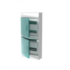 Шкаф распределительный IP41 Mistral встроенный, прозрачные двери 48M с винтовым N/PE клеммником, 64 подключений (1SPE007717F0721)