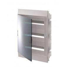 Шкаф распределительный IP41 Mistral встроенный, прозрачные двери 54M с винтовым N/PE клеммником, 64 подключений (1SLM004101A1209)