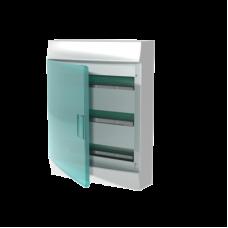 Шкаф распределительный IP41 Mistral встроенный, прозрачные двери 54M с винтовым N/PE клеммником, 64 подключений (1SPE007717F1021)