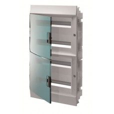 Шкаф распределительный IP41 Mistral встроенный, прозрачные двери 72M с винтовым N/PE клеммником, 84 подключений (1SLM004101A1210)