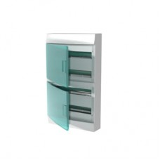 Шкаф распределительный IP41 Mistral встроенный, прозрачные двери 72M с винтовым N/PE клеммником, 84 подключений (1SPE007717F1121)