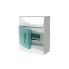 Шкаф распределительный IP41 Mistral встроенный, прозрачные двери 8M с винтовым N/PE клеммником, 12 подключений (1SPE007717F0321)