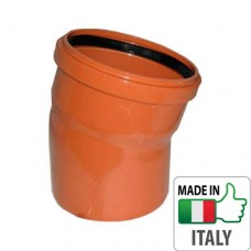 Колено (отвод) монтажное PVC для наружной канализации Redi O110x15°