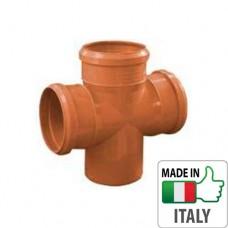 Крестовина монтажная PVC для наружной канализации Redi Ø110/110/110x87°