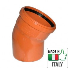 Колено (отвод) монтажное PVC для наружной канализации Redi O110x30°