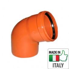 Колено (отвод) монтажное PVC для наружной канализации Redi O110x67°