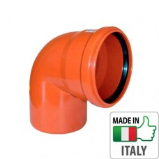 Колено (отвод) монтажное PVC для наружной канализации Redi Ø110x87°