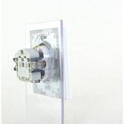 Розетка з заземленням Schneider Asfora 16А біла (EPH2900121)