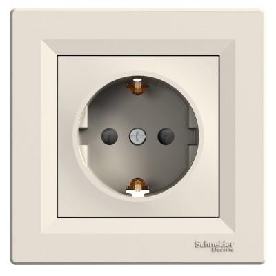 Розетка с заземлением и защитными шторками Asfora 16А Schneider Electric (EPH2900223)