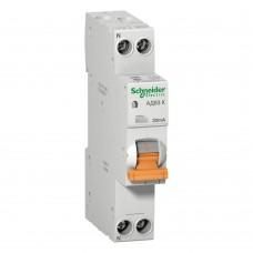 Дифференциальный автомат Schneider Electric Домовой АД63 25А, 30мА, 1 полюс + нейтраль, тип AC (12524)