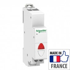 Световой индикатор на DIN-рейку Schneider Electric Acti 9 iIL, мигающий индикатор, красный, 110-230В пер. тока