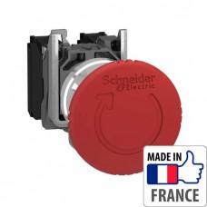 XB4BS8442 Кнопка аварийной остановки Schneider Electric XB4-B, красная, металл. основание, 1NC