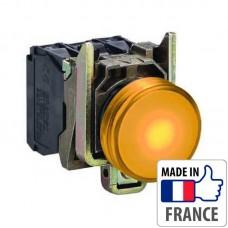 XB4BW35B5 Кнопка с подсветкой Schneider Electric XB4-B, желтый светодиод, металл. основание, 1NO/1NC, 24В