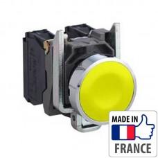 XB4BA51 Кнопка с пружинным возвратом Schneider Electric XB4-B, желтая, металл. основание, 1NO