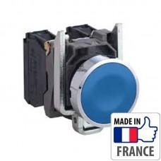 XB4BA61 Кнопка с пружинным возвратом Schneider Electric XB4-B, синяя, металл. основание, 1NO