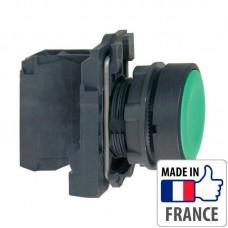 XB5AA31 Кнопка с пружинным возвратом Schneider Electric XB5-A, зеленая, пластик. основание, 1NO