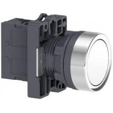 XA2EA11 Кнопка XA2 пружинная поворотная, белая, 1НО