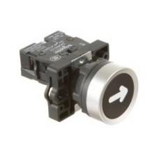 XA2EA3351 Кнопка ХА2,пружинная поворотная, черная с маркировкой, 1НО