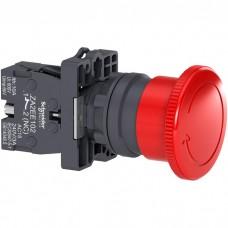 XA2ES542 Кнопка аварийной остановки, возвратно-поворотная, 40мм, красная, 1НЗ