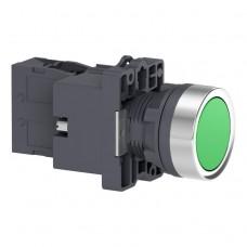 XA2EW33B1 Кнопка с подсветкой, LED, 24В, зеленая, 1НО