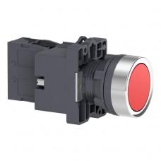 XA2EW34B2 Кнопка с подсветкой, LED, 24В, красная, 1НЗ