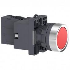 XA2EW34M2 Кнопка с подсветкой, LED, 220В, красная, 1НЗ