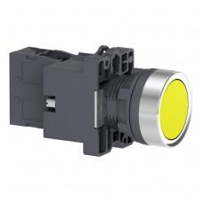 XA2EW35B1 Кнопка с подсветкой, LED, 24В, желтая, 1НО