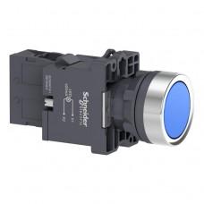 XA2EW36M1 Кнопка с подсветкой, LED, 220В, синяя, 1НО