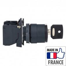 XB5AG33 Переключатель с ключом Schneider Electric XB5-A, 3 положения с фиксацией, пластик. основание, 2NO
