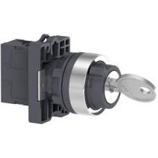 XA2EG03 Переключатель с ключом 3-поз. с фиксацией, 2НО