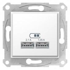 """USB-розетка Sedna 2.1 A (2 входа), цвет """"Белый"""""""