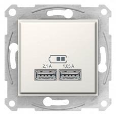 """USB-розетка Sedna 2.1 A (2 разъёма), цвет """"Алюминий"""""""
