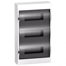 Щиток распределительный навесной Schneider Electric Easy9 на 36 модулей, дымчатая дверца