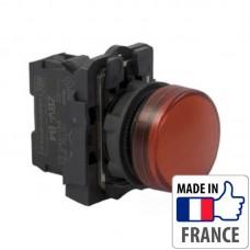 XB5AVB4 Сигнальная лампа со встроенным светодиодом Schneider Electric XB5-A, красная, пластик. основание, 24В