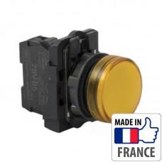 XB5AVB5 Сигнальная лампа со встроенным светодиодом Schneider Electric XB5-A, желтая, пластик. основание, 24В