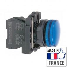 XB5AVB6 Сигнальная лампа со встроенным светодиодом Schneider Electric XB5-A, синяя, пластик. основание, 24В