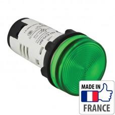 Сигнальная лампа со встроенным светодиодом Schneider Electric XB7, зеленая, в монолитном корпусе, 24В XB7EV03BP