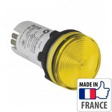 Сигнальная лампа со встроенным светодиодом Schneider Electric XB7, желтая, в монолитном корпусе, 24В XB7EV05BP